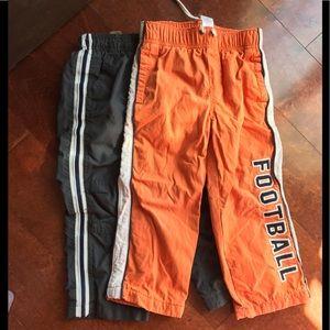 Boys athletic pants bundle football 3t